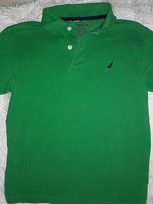 Boy's Nautica Short Sleeve Polo Shirt ~ Size Medium 10/12