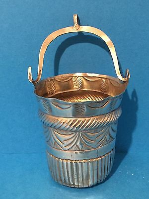 Naples Silver Gilt Cream Pail c1840