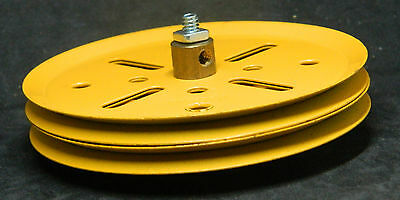 Meccano PN19b   Pulley Wheels two  Yellow