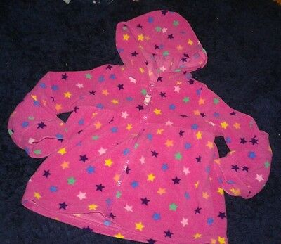 EUC Circo Toddler Girls Fleece Jacket Stars Size 3T Hood Long Sleeve