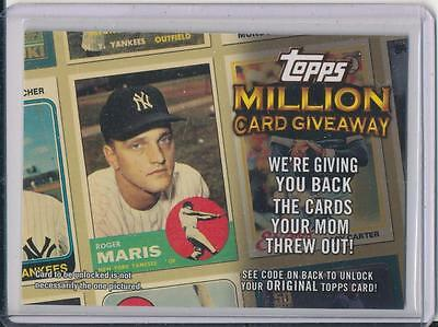 Roger Maris Topps Million Card Giveaway Baseball Card