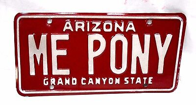 Vintage 1989 Arizona Single Personal Licence Plate -Me Pony- For Mustang Or ?