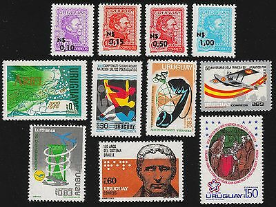 URUGUAY Scott 929//943 MNH - 1975-1976 - 8 Issues