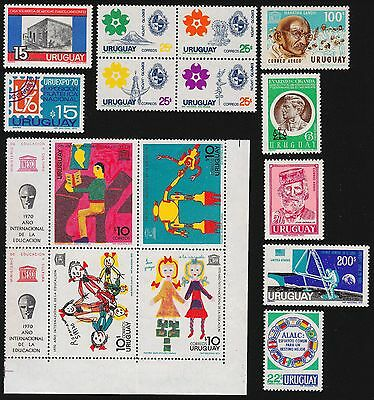 URUGUAY Scott 777//C376 MNH - 1970 - 9 Issues