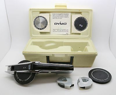 DYMO 1550 Chrome Deluxe Tapewriter Label Maker Kit