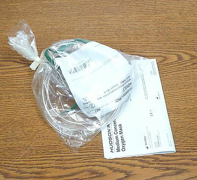 Lot of 2 Hudson RCI Adult Medium Concentration See-Thru Oxygen Mask Ref 1041