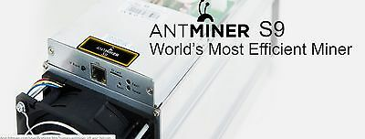 Antminer S9 13.5 Bitcoin Miner (Late August pre-order)