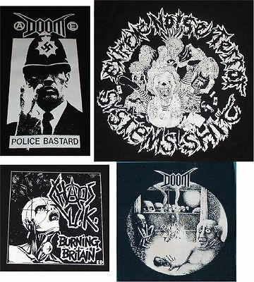 EXTREME NOISE TERROR DOOM CHAOS UK big back patches-2 design punk crust grind