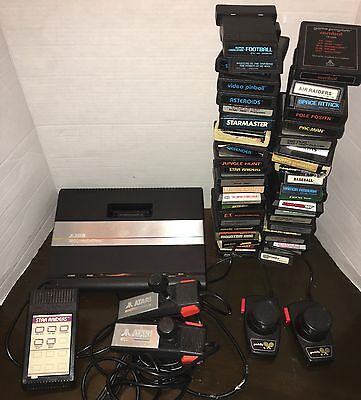 Atari 7800 Pro System Console With 43 Games Lot Controllers Paddles 2600