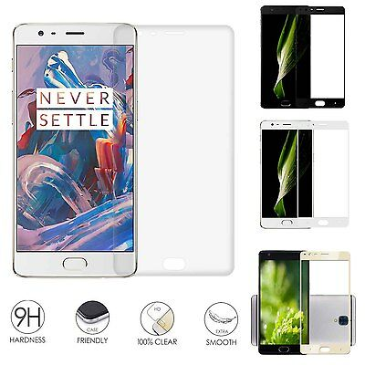 Full Cover Premium Ultra Thin Tempered Glass Screen Protector For Oneplus 3 HUL2