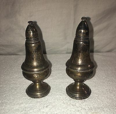 Vintage Sterling silver weighted salt and pepper shakers. No Scrap !!