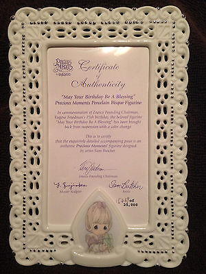"Precious Moments ""May Your Birthday Be A Blessing"" Porcelain Frame - New in Box!"