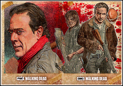 2017 TOPPS THE WALKING DEAD SEASON 6 NEGAN RICK DARYL 2-CARD AP SC by COVER