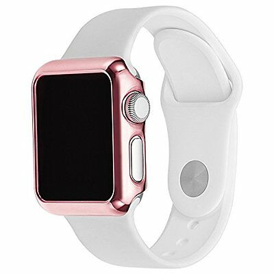 Rose Gold Apple Watch Series 1 Protective Case Cover & Built in Screen Protector