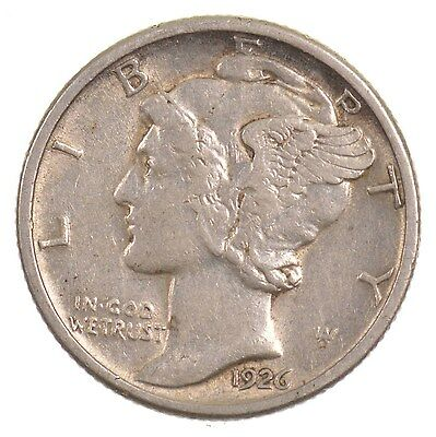 1926-D Mercury/Winged Liberty Head Silver Dime *J47