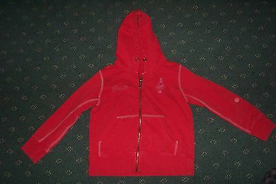 Boys Bauhaus label red zip up jumper sz.7