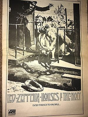 1973 Vintage Led Zeppelin Houses Of The Holy Atlantic Records Ad Pinup Poster