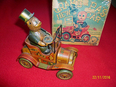 Grandpa's New Car - Tin Toy Wind-Up