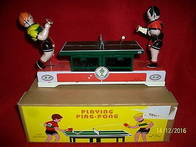 Tin Toy Wind-Up Table Tennis Ping Pong Game