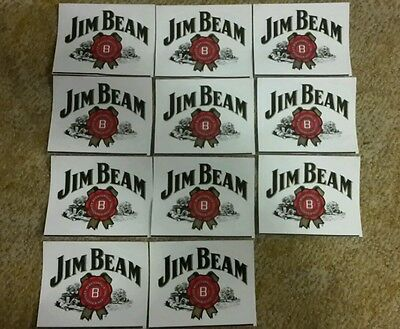JIM BEAM STICKER bulk buy 10 stickers and 1 FREE sticker