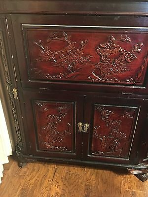 Antique Hand-carved Chinese Expandable Wine/Liquor Cabinet/Bar Beautiful!!!