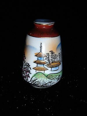 Vintage Small hand painted foreign vase Ornament think Japanese or Chinese