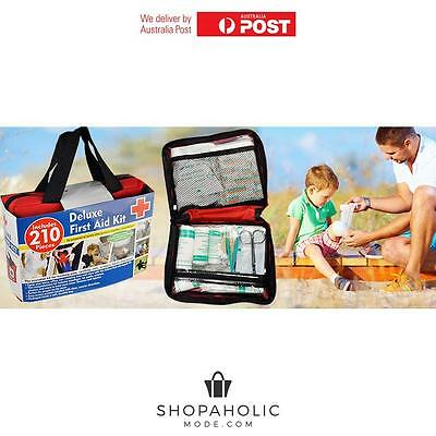 210 piece Travel First Aid Kit Medical Workplace Family Supplies Survival ARTG