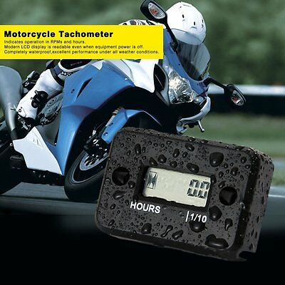 Waterproof Digital Tachometer RPM Counter Hour Meter For 2/4 Stroke Gas Motor UY