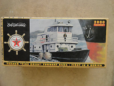 Texaco Fire Chief TugBoat Bank 2000 First in a Series ERTL