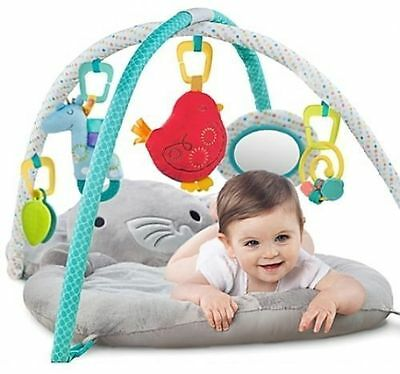 Elephants Baby Play Space Soft Mat Activity Gym Game Melodies & Lights Toy Gift