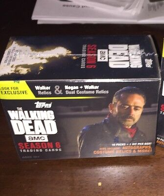 Walking Dead Topps Season 6 Cards Boxed. Relics, Autographs !
