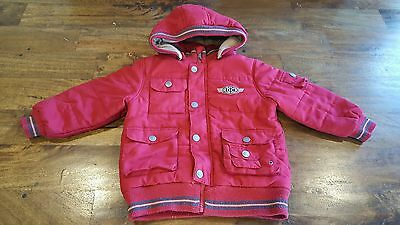Pumpkin Patch Boys Red Winter Coat With Hood Size 3