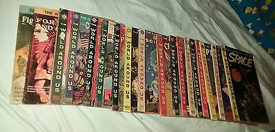 world around us 18 issue comics lot classics illustrated run set collection book