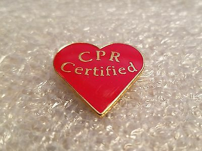 Red Cross Certified Cpr Pin