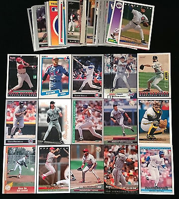 Bulk Lot of 72 x 1990s MLB Baseball Trading Cards inc ROOKIES INSERTS