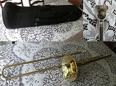 Bentley Tenor Trombone Brass Colour With Case and Mouthpiece Kit Outfit 30PTRO