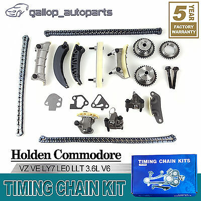 Holden Commodore Timing Chain Kit Crank Gear Rodeo Ra Vz Alloytec Ly7 Le0 3.6 V6