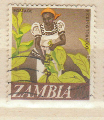 picking tobacco zambia stamp - see scan