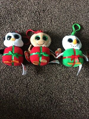 TY Beanie Clips X 3 NWT Sweetest, Chill & Shivers