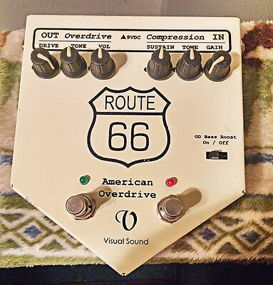 Visual Sound Route 66 Version 1 Overdrive Compression Guitar blues & Rock pedal