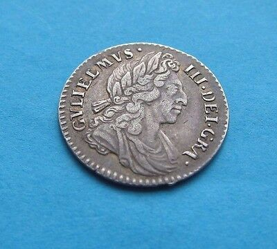 William III 1698 4d Fourpence Groat GB Very Nice Coin Scarce in Grade See Photo