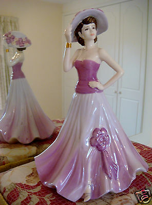 L/e Coalport Figurine-Carol-Ladies Of Fashion Foy 2003-Made In England+Cert