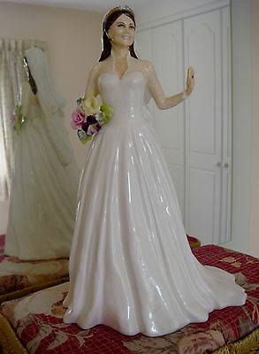 L/e Royal Staffordshire Figurine-Catherine The Royal Bride-Compton&woodhouse A/f