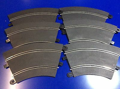 Scalextric C8206 Track Radius - 45 Degrees Curve USED x6