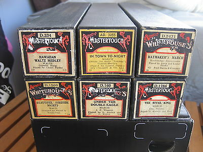 Vintage Mastertouch Pianola Music Rolls - set of six.  Your Choice!