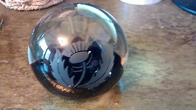 Caithness Glass THISTLE Paperweight SIGNED