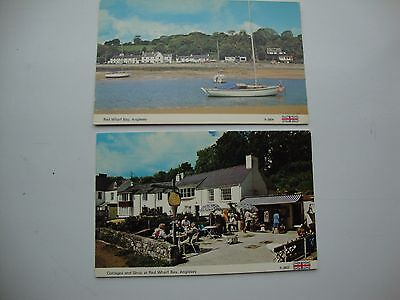 2 postcards -Red Wharf Bay anglesey