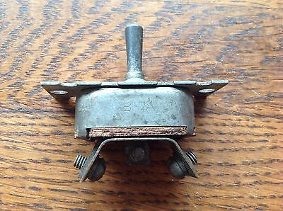 Arrow H&H vintage aircraft Switch Type B-7A made in USA 2 Way ON/OFF & Flash