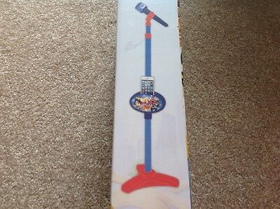DC Super Hero Girls Karaoke microphone stand connect iPod iPhone MP3 player