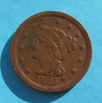 USA - Large 1 Cent - 1855 - One Cent
